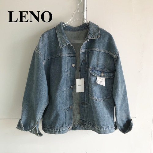 "LENO/リノ・""BRENDA"" BIG TRUCKER JACKET -FADE INDIGO-"