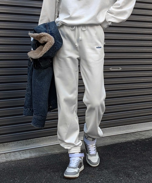 2way zip sweat pants