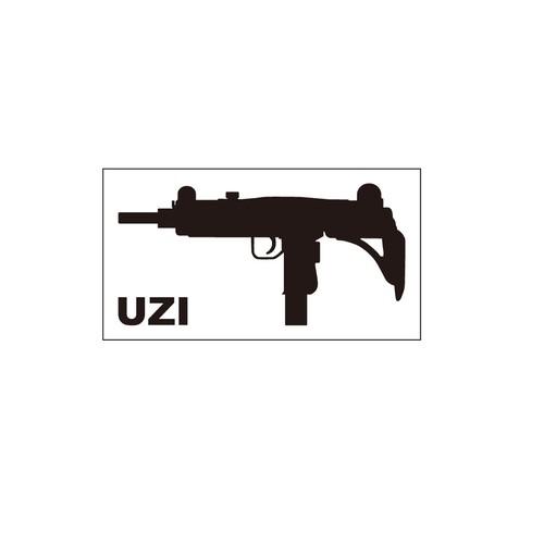 銃ステッカー UZI