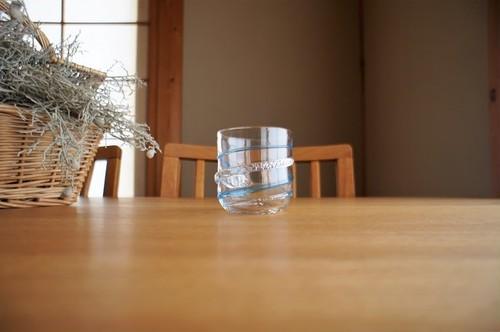ガラス/銀の糸マーブルグラス(サイダー)小/空西あかね