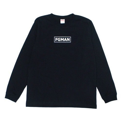 """FGMAN"" BOX LOGO L/S Black"