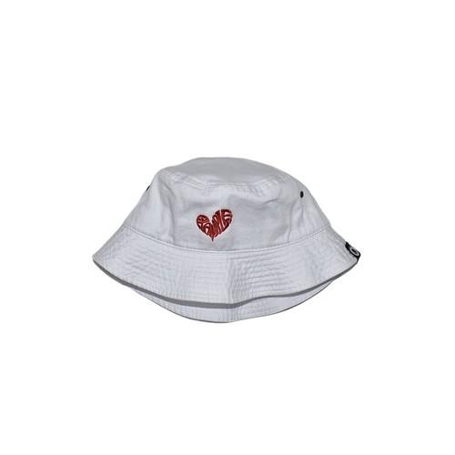 HEART LOGO BUCKET HAT / WHITE