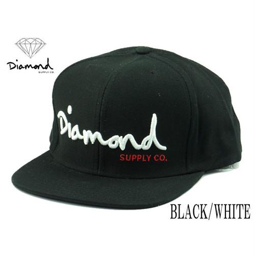 ダイヤモンドサプライ【 DIAMOND SUPPLY CO. 】オージースクリプトスナップバックキャップ