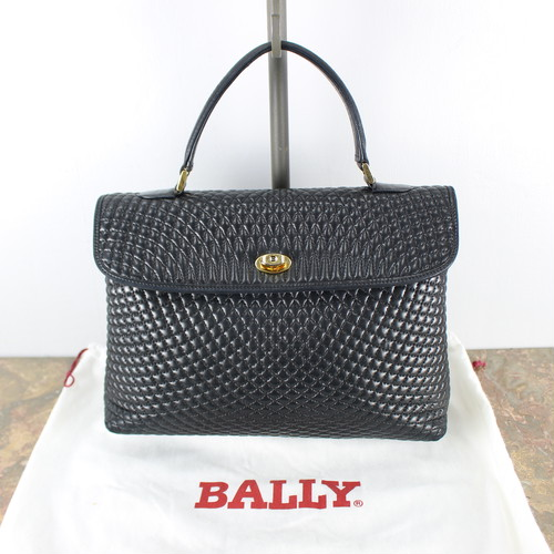 .VINTAGE BALLY MATELASSE LEATHER HAND BAG MADE IN ITALY/ヴィンテージバリーマトラッセレザーハンドバッグ 2000000039503