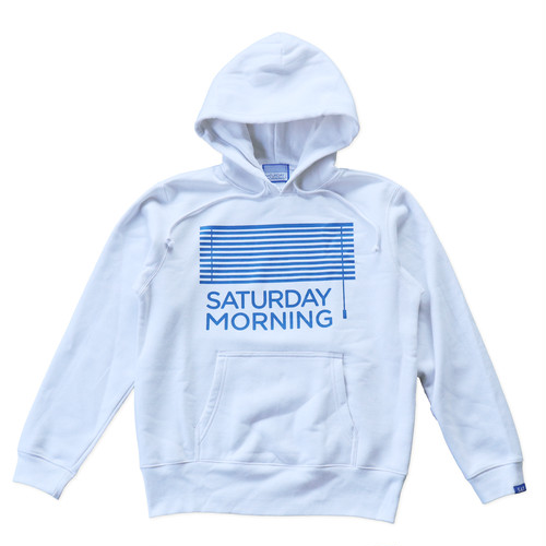 SATURDAY MORNING hoodie(ホワイト)