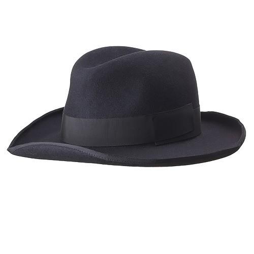 LONG BRIM HAT/black
