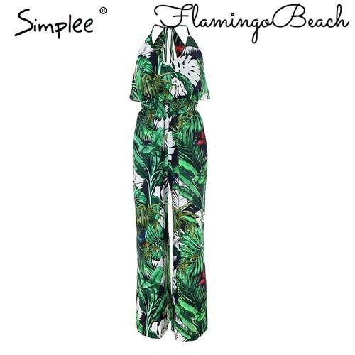 【FlamingoBeach】tropical jump suit