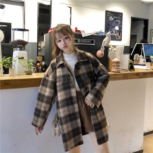 【送料無料】トレンドの チェック柄 ♡ レトロ 大人可愛い ステンカラー チェスター コート