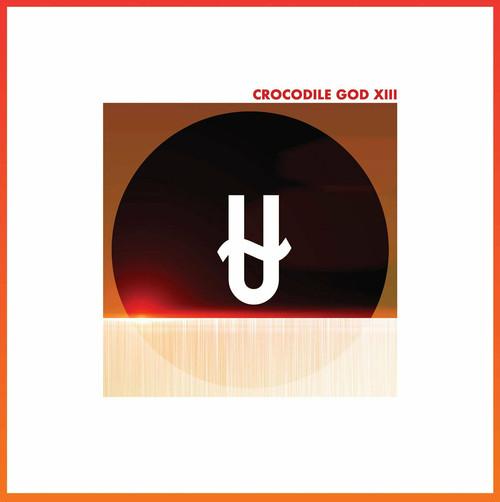"crocodile god / thirteen 12"" CLEAR ORANGE vinyl"