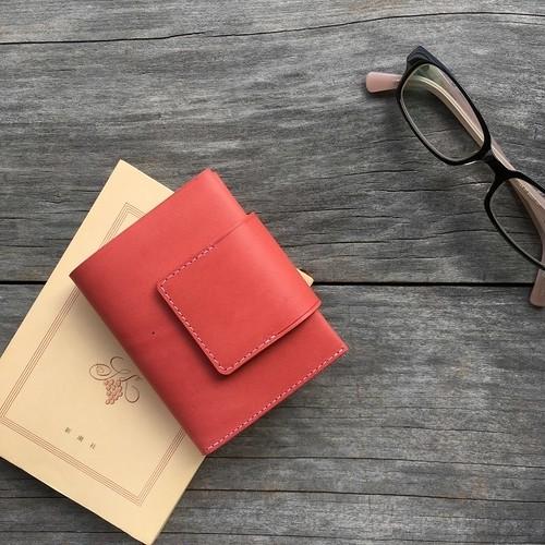 コンパクト二つ折り財布フタ付き(小銭入れ付き) tsukikusa<月草>