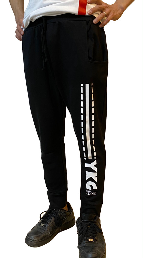 【YKG】ロゴ入りパンツ【ブラック】イタリアンウェア【送料無料】《M&W》