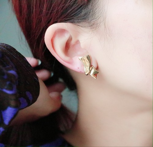 GIVENCHY golden tone earrings
