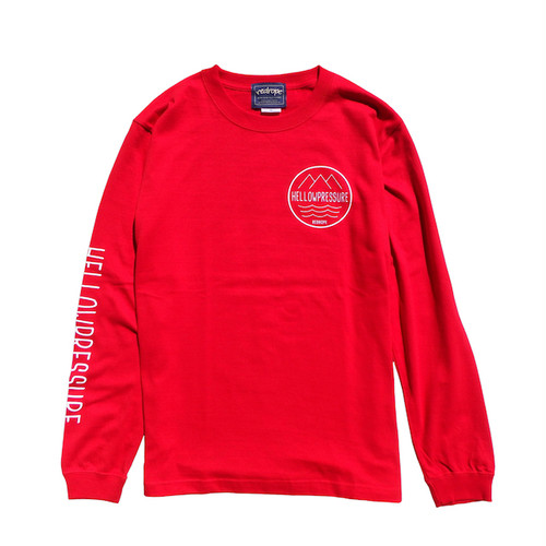 【HELLOWPRESSURE L/S TEE】red