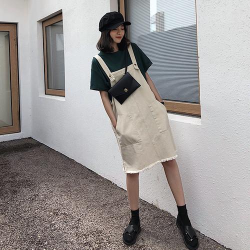 裾カットオフサロペットスカート RD3621