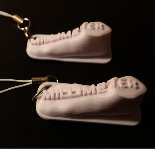【10本からオリジナル立体ストラップ】Millimeter(10個セット)