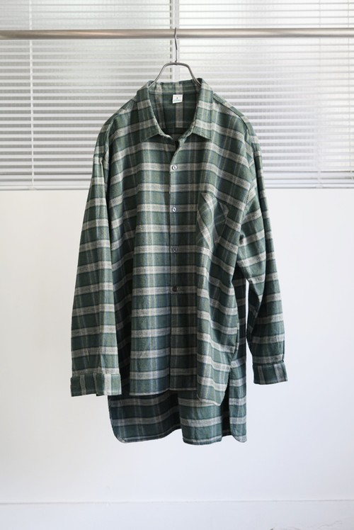<SOLD OUT>Dolmen -  French Work Flannel Shirt Dead Stock