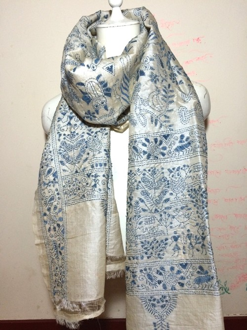 カンタ刺繍ストール011