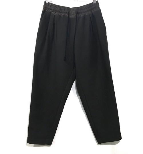 YANTOR cotton linen wool taperd gom pants KHAKI