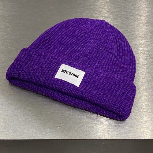 MFC STORE WHITE TAG LOGO LOW WATCH CAP / PURPLE