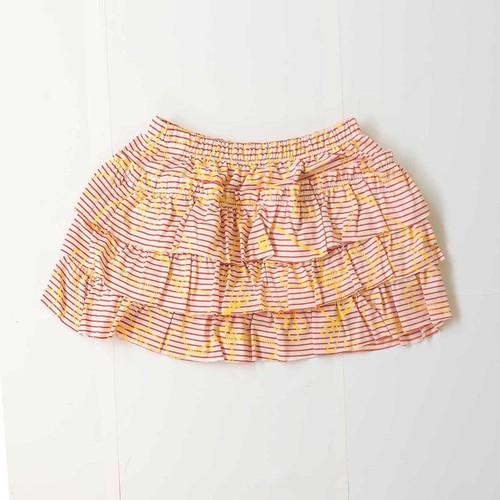 Frill Skirt  - Ayatori Border / EATABLE HOME