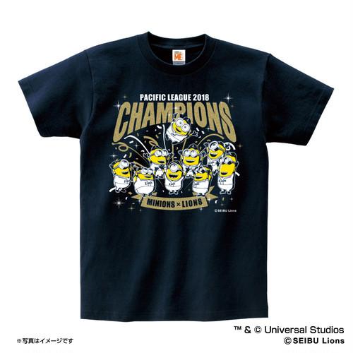 ミニオン×ライオンズ パシフィック・リーグ2018優勝記念 Tシャツ(大人用)