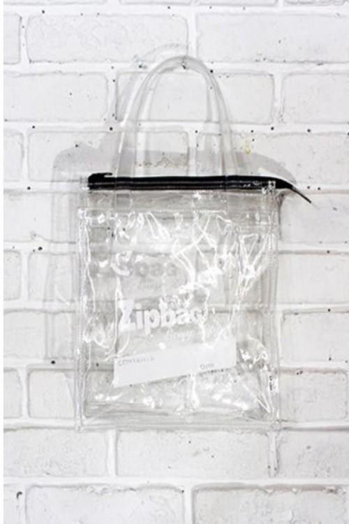 Zip Bag | ジップ バッグ ビニールバッグ クリアバッグ 【Aquvii アクビ】