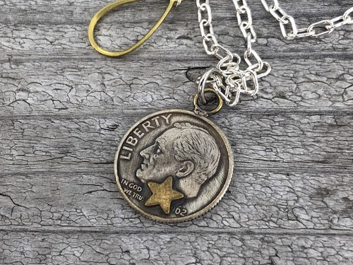 Button Works ボタンワークス Roosevelt Dime Coin Necklace-Star
