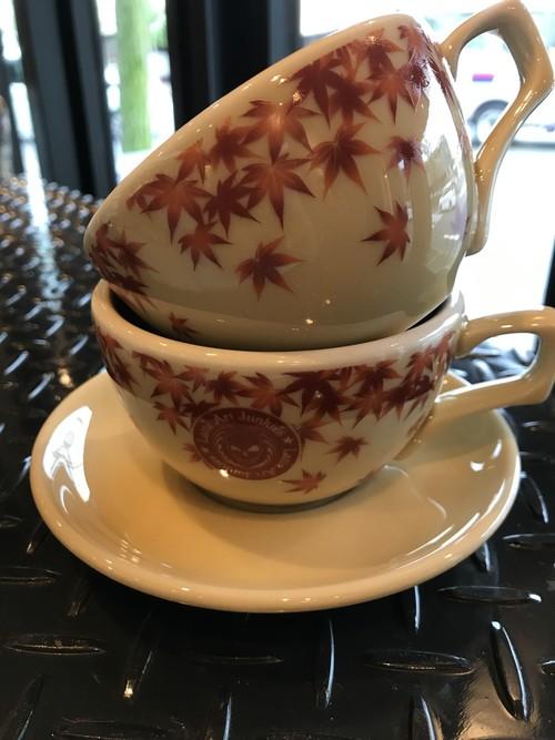 有田焼オリジナルカップ7oz紅葉柄ロゴ有り(送料込)