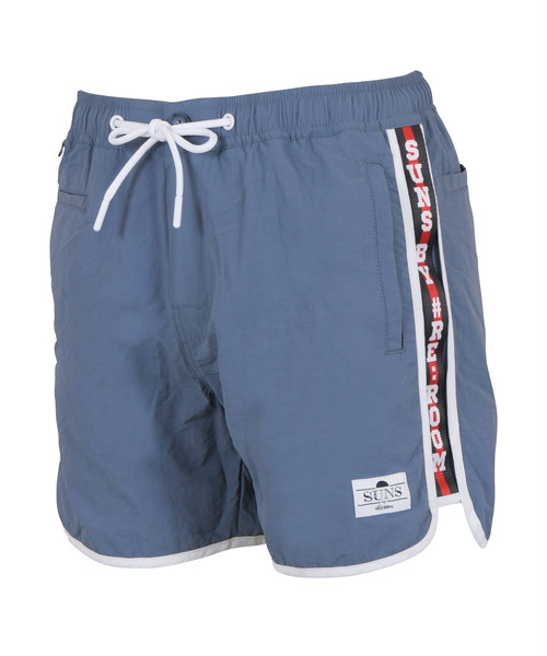 SUNS LOGO SIDE LINE TAPE PIPING BOARD SHORTS[RSW055]