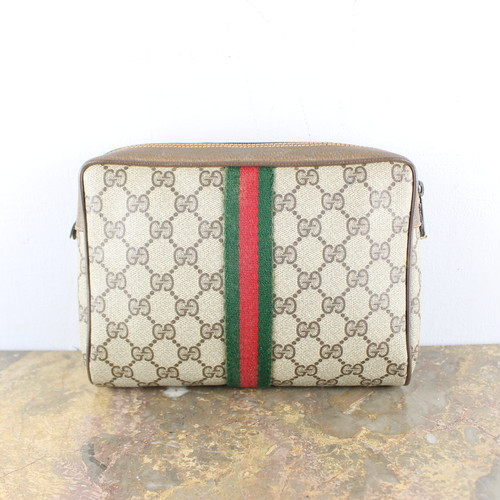 .OLD GUCCI SHERRY LINE GG PATTERNED CLUTCH BAG MADE IN ITALY/オールドグッチシェリーラインGG柄クラッチバッグ 2000000053950
