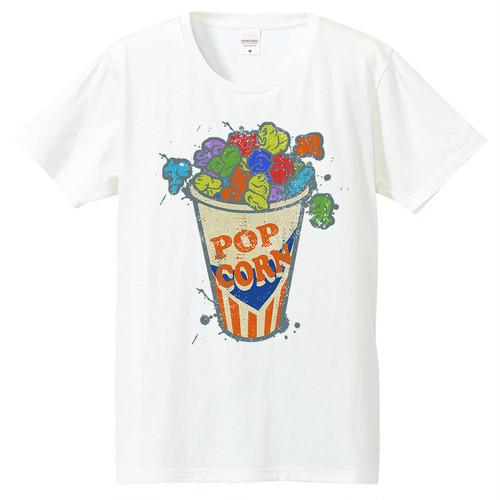 [Tシャツ] Crazy popcorn