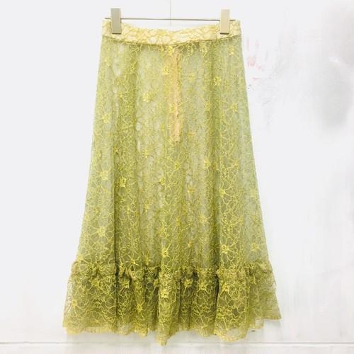 seethrough lace skirt