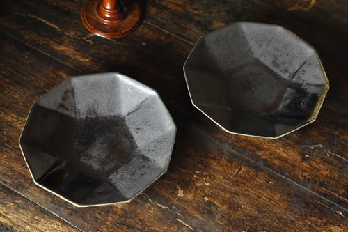 0578 根本幸一 ジョンソン皿M アイボリー|琥珀色|黒