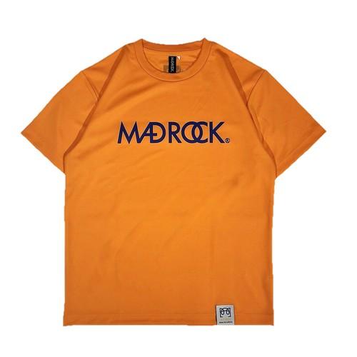 新色 マッドロックロゴ Tシャツ/ドライタイプ/オレンジ&ブルー