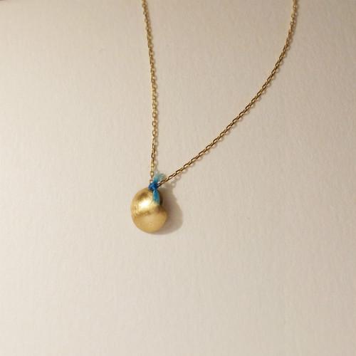 18金ゴールドネックレス:シングルBlue