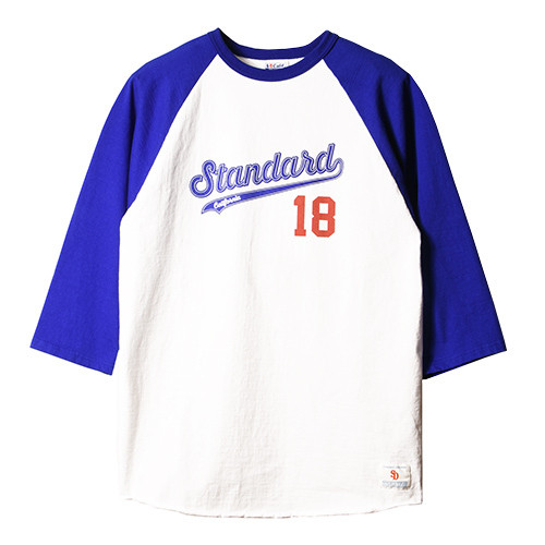 STANDARD CALIFORNIA #SD 18th Anniversary 3/4 Sleeve Baseball T