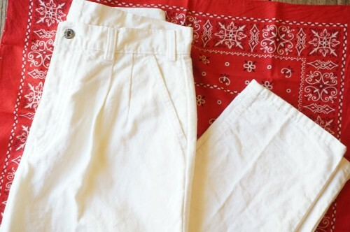 80's Levi's 22528 two-tuck white Pants