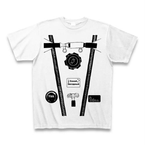 【天文学】ロシア風_船内活動服Tシャツ(EVA/White)