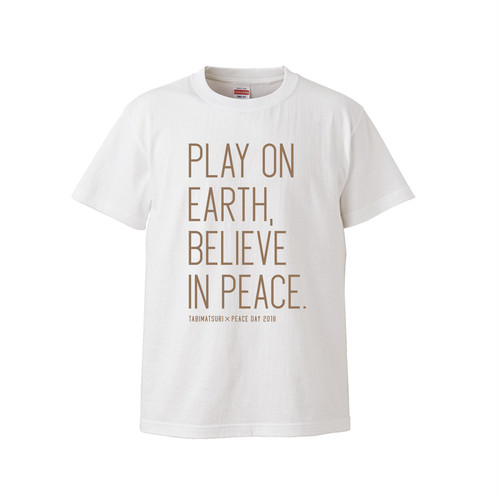 PLAY ON EARTH TEXT T-SHIRT (ホワイト)