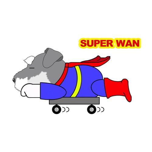 Superwanステッカー 【ミニチュアシュナウザー】 犬 ステッカー シール