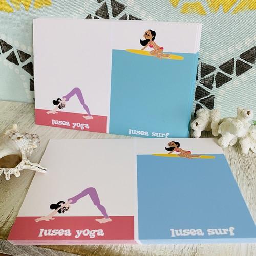 ポストカード  ルーシーちゃん  SURF&YOGA