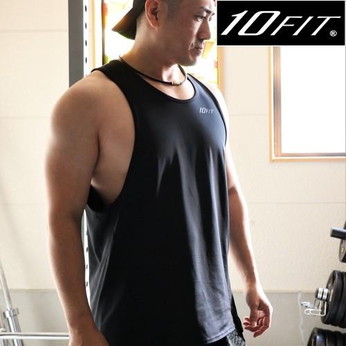 10FIT タンクトップ トレーニング 筋トレ ボディビル メンズ TE-07 黒