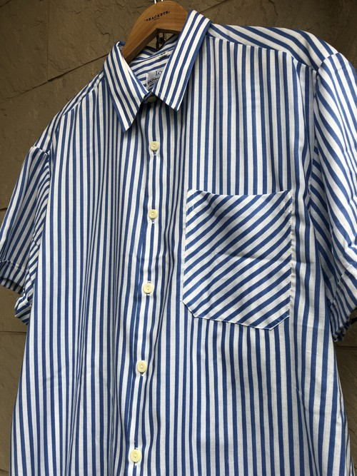 Deadstock British blue/white stripe pattern S/S shirts