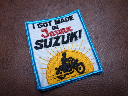 I GOT MADE IN JAPAN SUZUKI Vintage Patch