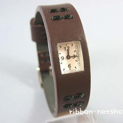 CABANE de ZUCCa ブラウン ズッカ腕時計レザー:スリムタイプ【送料無料】AWGK020