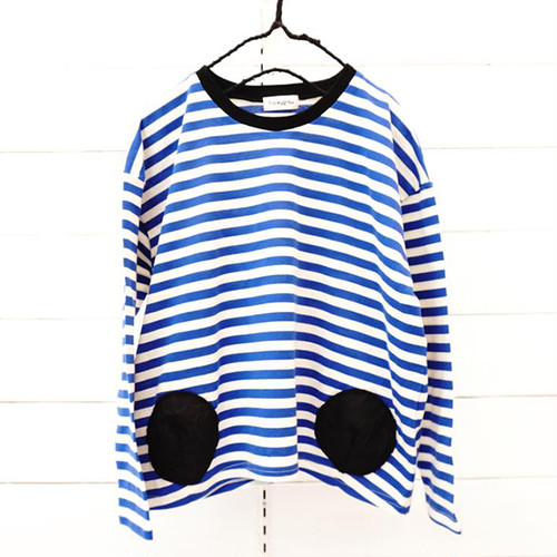 BORDER L/S TEE - BEAR MT 2DOTS / WOMEN