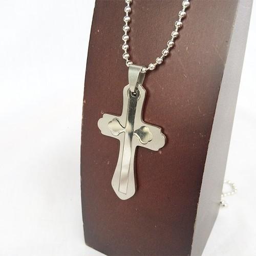 クロス 十字架 ロザリオ ジーザス ボールチェーン チョーカー ネックレス 銀 シルバー SILVER 1875