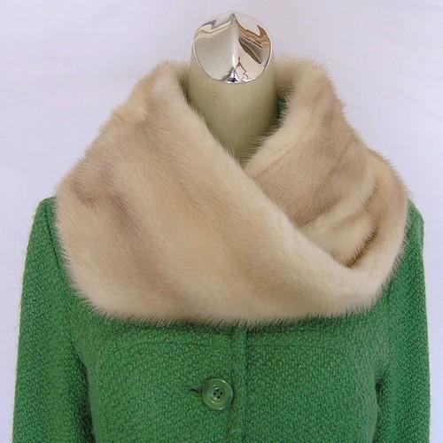 ¶ new antique fur ¶ ゴールデンパールミンクnejiriスヌード「icon」