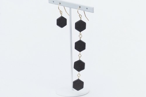 ilocami  SP-1  PIERCE/EARRING【CHARCOAL】