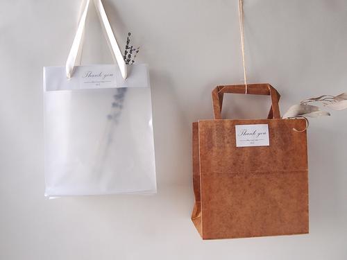 シンプルな手提げ袋(#蝋引き/#半透明)